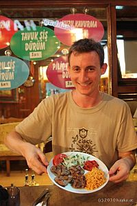 Hayko Riemenschneider enjoying food in Istanbul!